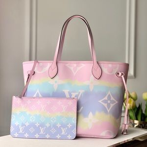 Louis Vuitton neverfull escale pink